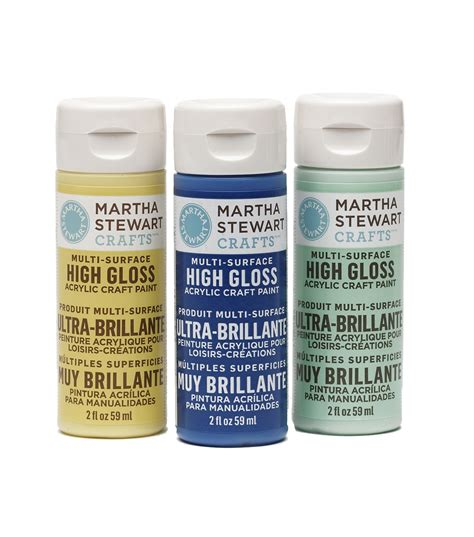 acrylic paint gloss martha stewart crafts 2oz high gloss acrylic craft paint