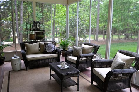 Screened Porch Furniture Ideas The Collected Interior Our Screened Porch
