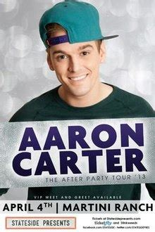 aaron carter house party aaron carter after party tour song list