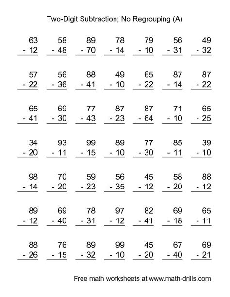 Subtraction With Borrowing Worksheets by 1000 Images About Subtraction On Addition And