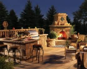 Outdoor Kitchen And Fireplace Designs by 30 Ideas For Outdoor Fireplace And Grill