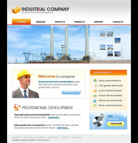 industrial template industrial website template web design templates