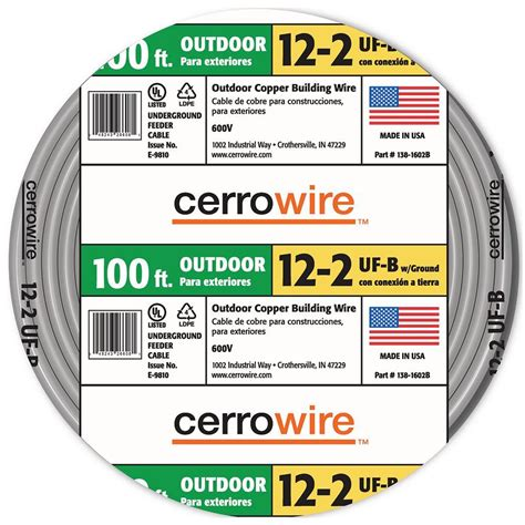 12 outdoor electrical wire upc 048243266098 outdoor electrical wire cerrowire