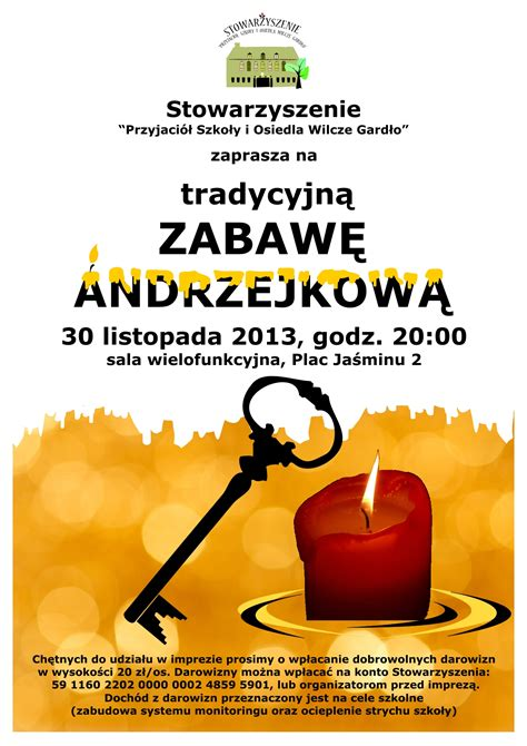 Plakat Andrzejkowy by Plakat Andrzejki 2013 Popr Wilcze Gardło Miasto Ogr 243 D