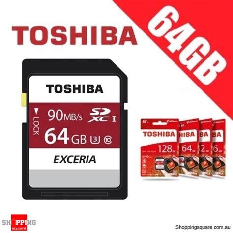toshiba exceria 64gb sdhc sdxc memory card uhs i u3 4k fhd up to 90mb s shopping