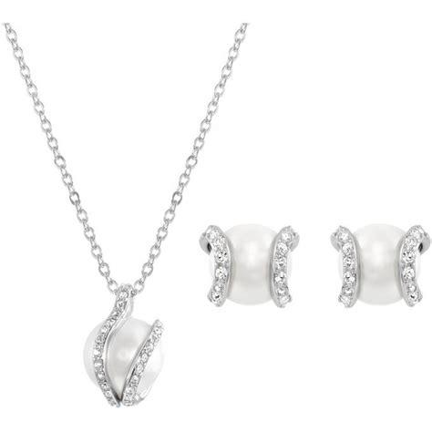 bijoux femme swarovski collier et pendentif swarovski 1081922 collier et pendentif perle cristaux femme sur bijourama