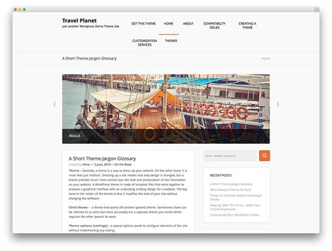themes wordpress free travel 30 best responsive free travel wordpress themes
