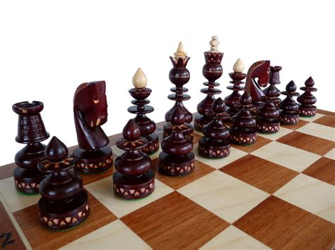 unique chess pieces unique handmade wooden chess set marquetry gift by