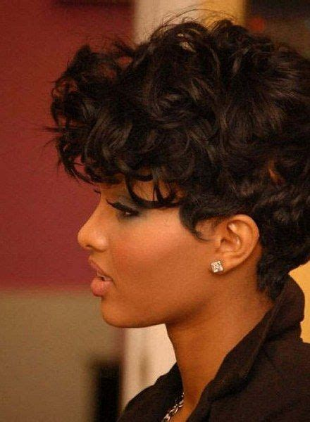 short curly weavons for round faces 227 best short hair styles for black women images on