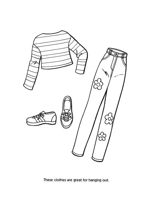 coloring pages of barbie clothes barbie fashion clothes coloring page only coloring pages
