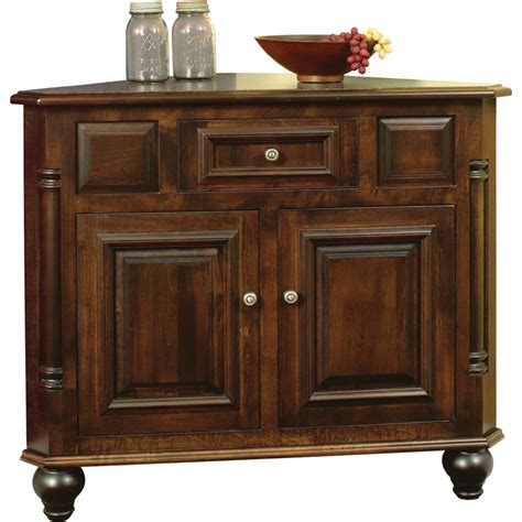 Corner Sideboards Buffets european collection corner buffet amish crafted furniture