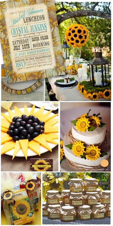 Sunflower Themed Bridal Shower Ideas by Burlap And Sunflower Wedding Ideas Bright As
