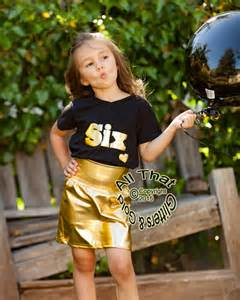 Personalized Baby Jewelry Box Gold Pencil Skirts Cute Metallic Gold Pencil Baby Girls Toddler Little Girls Skirts
