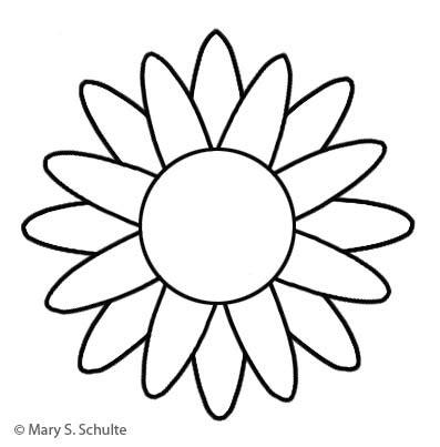 sunflower templates clipart best
