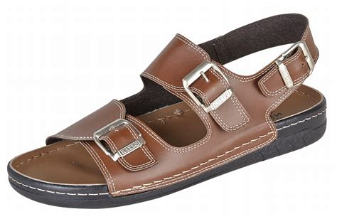 jesus sandal mens gezer leather look wide fit jesus sandals mules brown