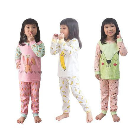 jual kazel piyama baju tidur anak 3 pcs harga kualitas terjamin blibli