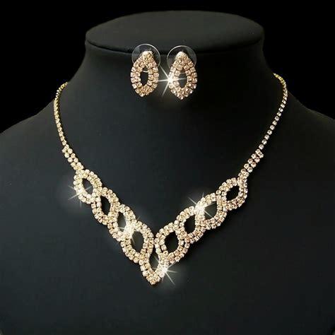 Modeschmuck Brautschmuck by Collier Choker Ohrringe Armband Strass Set