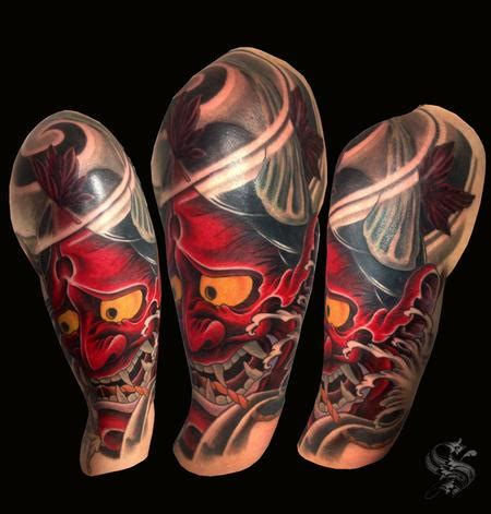 hannya mask tattoo cover up ben sellman s tattoo designs tattoonow