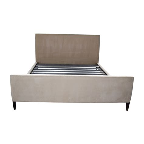 room and board bed frame 62 off room board room board tan king bed frame beds