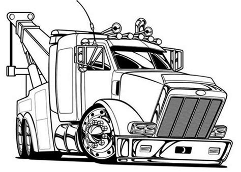 peterbilt semi truck coloring pages sketch coloring page truck coloring pages bestofcoloring com