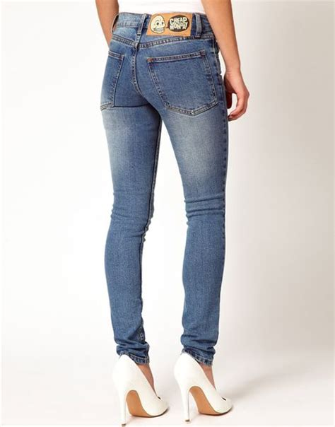 Cheap Monday Bio Wash Retro Celana Skiny cheap monday tight vintage wash in blue lyst