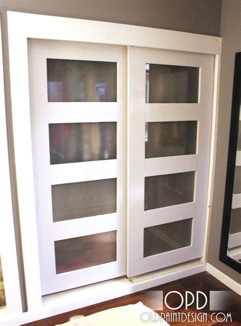how to build a closet with sliding doors white bypass closet doors diy projects