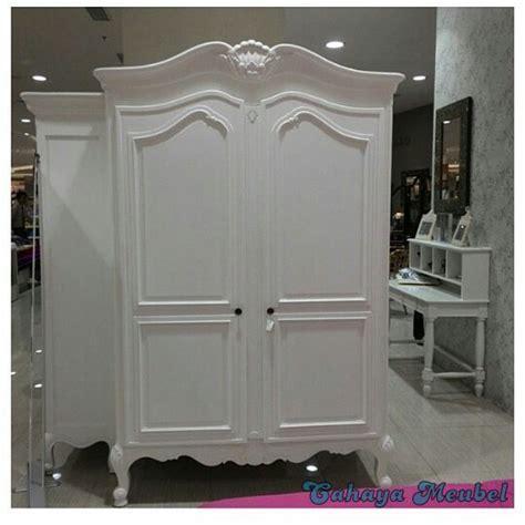Murah Magnet Lemari Besar Putih lemari pakaian 2 pintu klasik duco putih cahaya mebel jepara