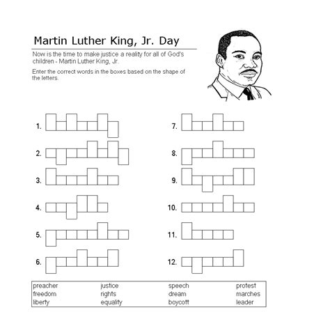 Martin Luther King Printable Activity Sheets | free printable martin luther king jr worksheets free