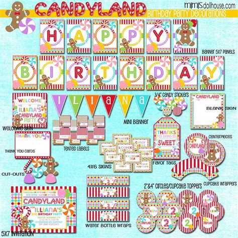Candyland Printables candyland printable collection mimi s dollhouse