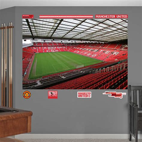 manchester united wallpaper for bedroom inside old trafford mural wall decal shop fathead 174 for