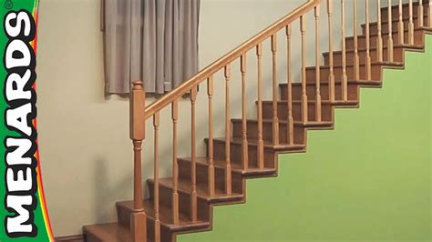 how to install banister on stairs installing stair rails menards youtube