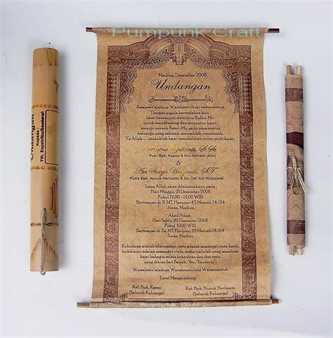 Undangan Tabung Bambu Undangan Pernikahan Just Another Weblog