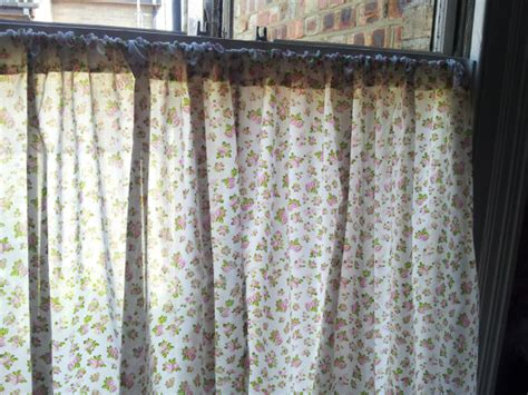 window curtains shabby chic short curtains rose by clarashandmade