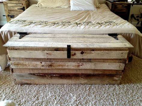 Handmade Wooden Trunks - items similar to handmade reclaimed pallet wood trunk