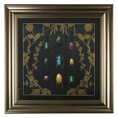 bugs framed print  arthouse gold black art