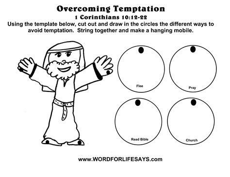 coloring pages jesus is tempted jesus was tempted craft mobile craft for