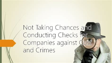 Lawsuit Against Background Check Company Not Taking Chances And Conducting Checks For Companies Against Cost A