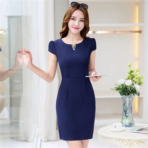 Formal Korea Dress Ds4194 Black fashion korea formal office lay work dress nowsel