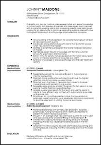 free creative sales representative resume template