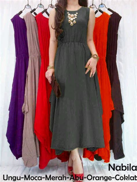 Nabila Maxy Dress nabila maxi dress rahma o shop supplier baju hijabers