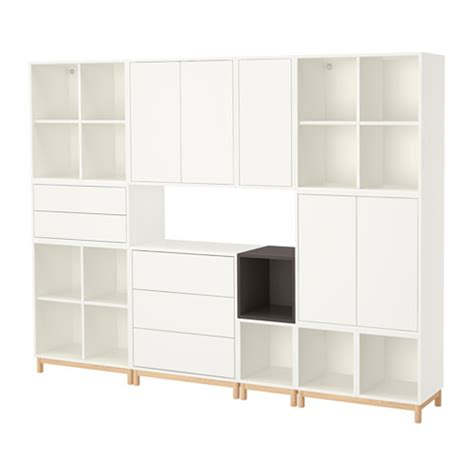 ikea eket eket cabinet combination with legs white dark grey ikea