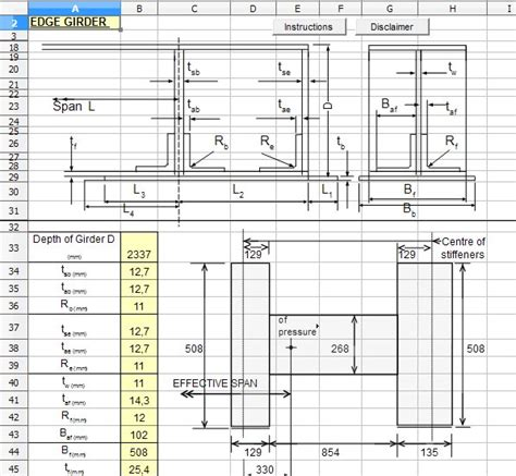 pattern composite exle effective span effective span of plate girder with no