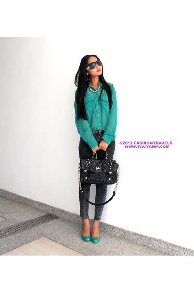 17 7 Bag Charles Keith D8213 Sale teal friendlyfashionmy tops black charles and keith bags quot it s teal time quot by tauyanm chictopia