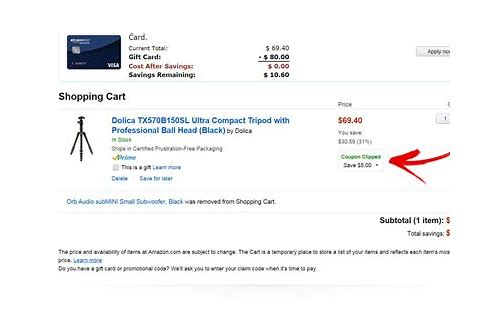 amazon coupon items