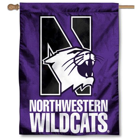 northwestern wildcats house flag your northwestern
