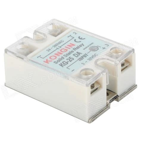 Ssr 25da Solid State Relay 25a Cnmf kg 25da 25a solid state relay white free shipping