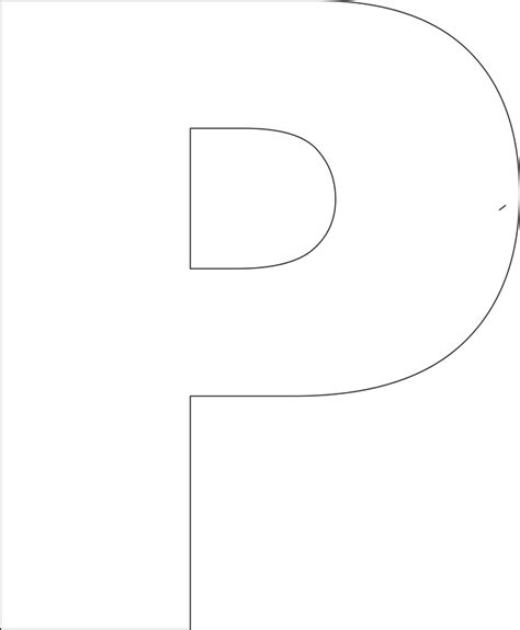 8 best images of printable block letter p p block letter