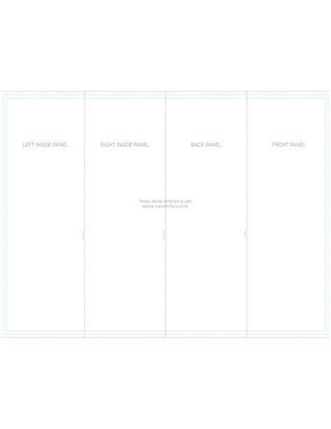 four fold brochure template 4 panel brochure roll fold template free