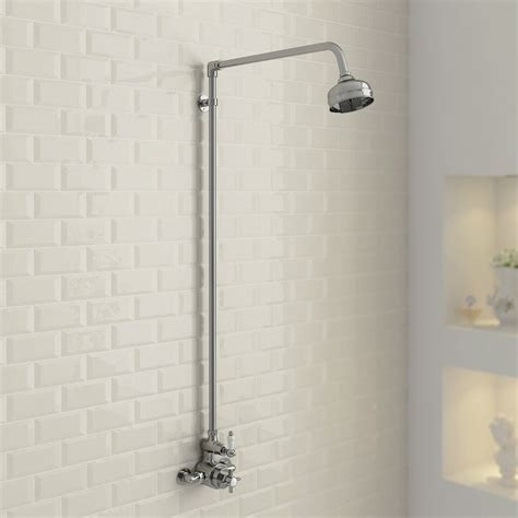 Showers Bathroom Ultra Traditional Exposed Thermostatic Shower Valve With Rigid Riser Kit At