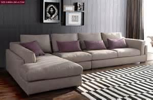 sofa in l form modernen weichen l form italienisch stoff sofa kopfst 252 tze